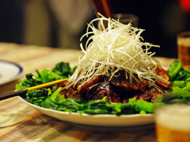 さばの味噌煮 青菜添え こっくり八丁味噌仕立て
